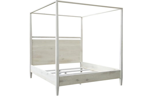 Picture of WASHED OAK MODERN 4-POSTER BED, CAL KING