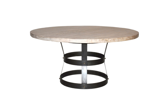 "Picture of ""BASKET"" DINING TABLE, RL TOP, 54"""