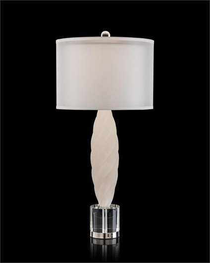 Picture of ALABASTER TABLE LAMP WITH CRYSTAL BASE