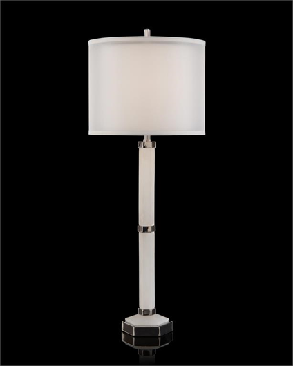 Picture of ALABASTER COLUMN TABLE LAMP