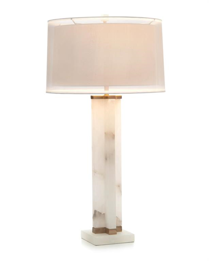 Picture of ALABASTER CROSS TABLE LAMP