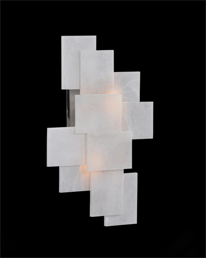 Picture of ALABASTER WALL SCONCE WITH A NOD TO MONDRIAN
