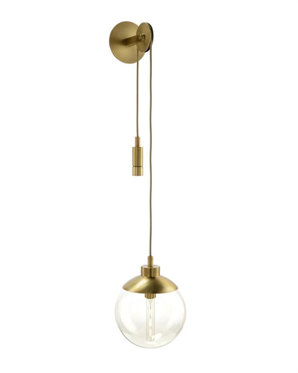Picture of ANTIQUE GOLD SINGLE-LIGHT PULLEY SCONCE