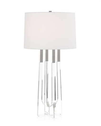 Picture of ACRYLIC TABLE LAMP WITH POLISHED NICKEL