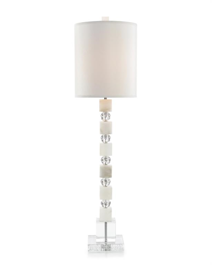 Picture of ALABASTER AND GLASS STACKED TABLE LAMP