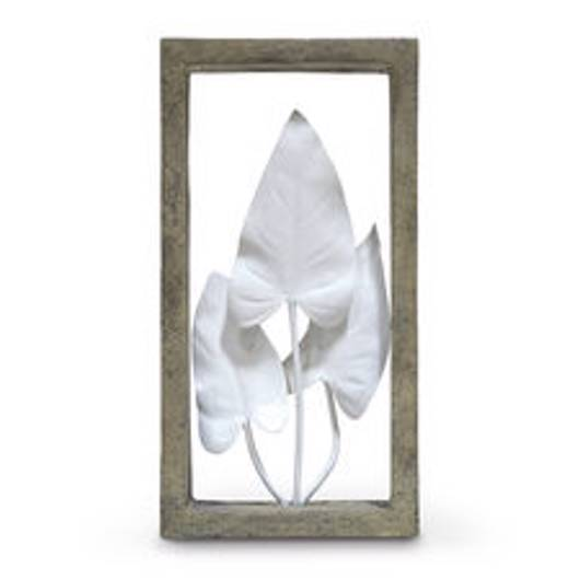 Picture of INDOOR/OUTDOOR ANTHURIUM LEAVES SHADOW BOX