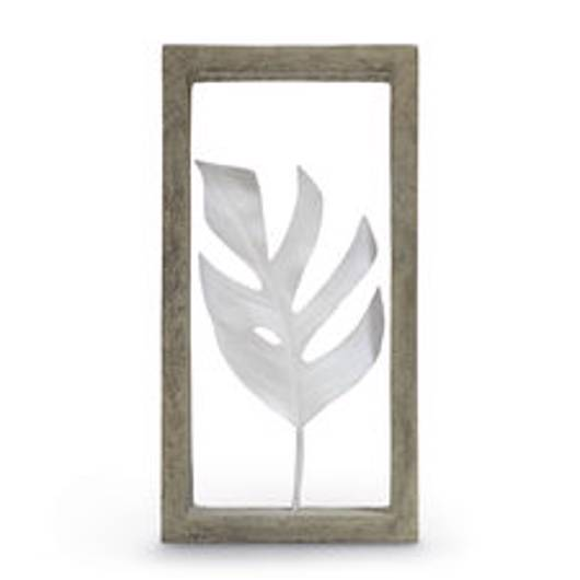 Picture of INDOOR/OUTDOOR MONSTERA LEAF SHADOW BOX