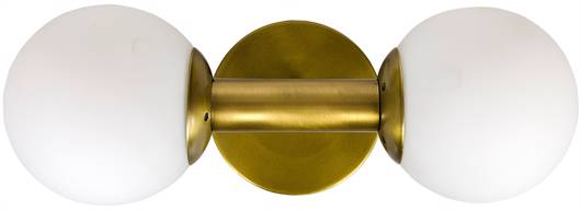 Picture of ANTIOPE SCONCE, ANTIQUE BRASS, METAL AND GLASS