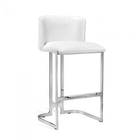 Picture of BANKS BAR STOOL - WHITE